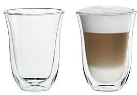 De'Longhi Delonghi Delonghi 2-Pack Latte Glass Set