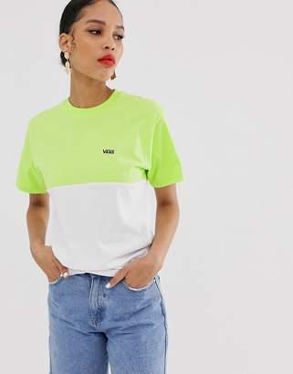 Vans Small Logo neon colour block t-shirt