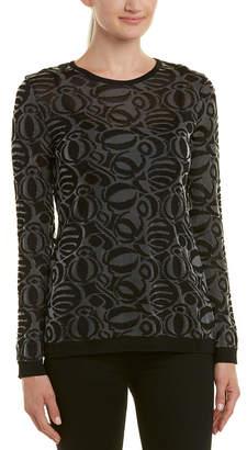 Chanel Black & Silver Knit Sweater (Size Xs)