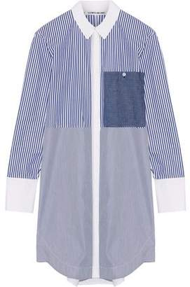 Elizabeth and James Jay Striped Cotton-Poplin Mini Shirt Dress