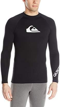 dafe2aee53f08 Quiksilver All Time Long Sleeve Rashguard Swim Shirt UPF 50+