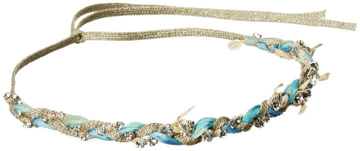 Jane Tran Braided Sparkle Jewel Headband