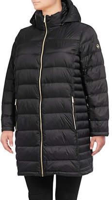 MICHAEL Michael Kors Plus Long Packable Puffer Coat