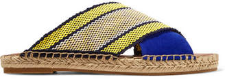 Diane von Furstenberg Millie Canvas And Suede Espadrille Sandals - Blue