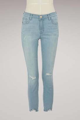 J Brand Gray frayed jeans