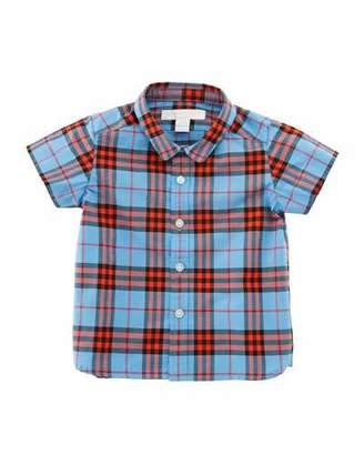 Burberry Clarkey Check Button-Down Shirt, Size 6M-3
