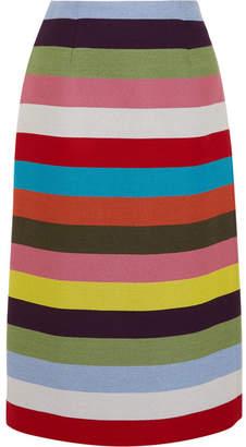 Mary Katrantzou Sigma Striped Wool-blend Twill Midi Skirt