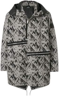 Stone Island Shadow Project elongated zipped jacket