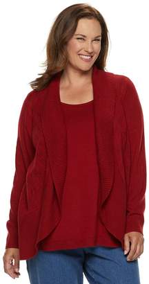 Croft & Barrow Plus Size Layered Look Sweater