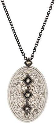 Armenta Diamond Pavé Oval Pendant Necklace