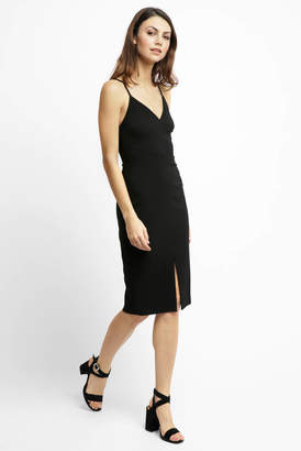 LIKELY Brooklyn Ponte Front Slit Dress
