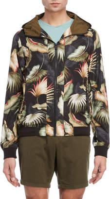 Scotch & Soda Leaf Print Zip Jacket