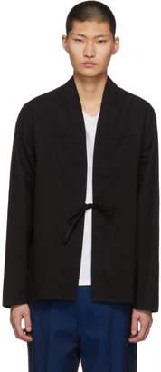 Naked & Famous Denim Denim SSENSE Exclusive Black Kimono Shirt