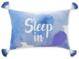 """Martha Stewart Collection CLOSEOUT! Whim by Collection Sleep In 12"""" x 28"""" Graphic-Print Decorative Pillow, Created for Macy's"""