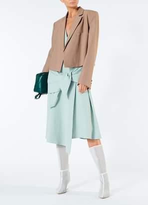 Tibi Chalky Drape Sleeveless Midi Wrap Dress