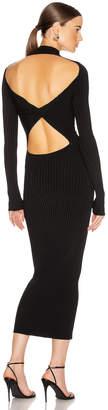 Dion Lee Stripe Rib Twist Dress in Black | FWRD
