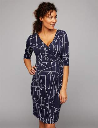 Ripe Geo Print Maternity Wrap Dress