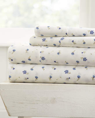 Ienjoy Home Floral 4-Piece Bed Sheet Set, King