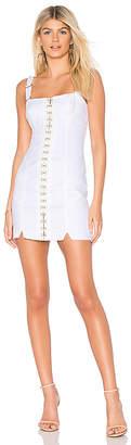 For Love & Lemons Monika Hook Front Mini Dress.