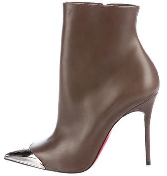 Christian Louboutin  Christian Louboutin Calamijane Leather Ankle Boots