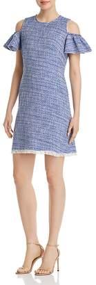 Kate Spade Cold-Shoulder Tweed Dress