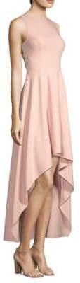 Aidan Mattox Hi-Lo Scuba Dress