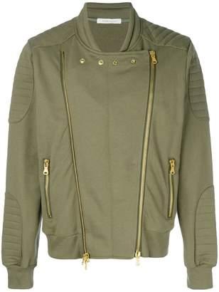 Pierre Balmain double zip bomber jacket