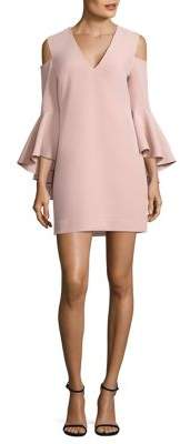 MILLY Nicole Cold-Shoulder Bell Sleeve Dress