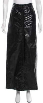 Ann Demeulemeester Leather Maxi Skirt Black Leather Maxi Skirt