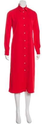 ATEA OCEANIE Long Sleeve Midi Dress