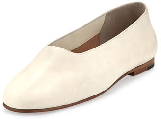 Vince Maxwell Leather Flat $225 thestylecure.com