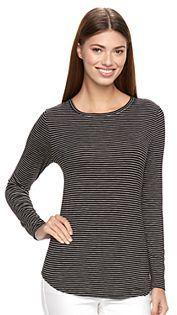 Women's Apt. 9® Essential Crewneck Tee $26 thestylecure.com