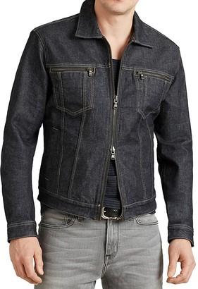 John Varvatos Star USA Zip Denim Jacket $198 thestylecure.com