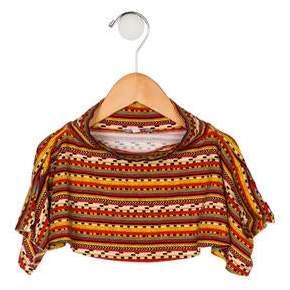 Junior Gaultier Girls' Tribal Print Knit Poncho