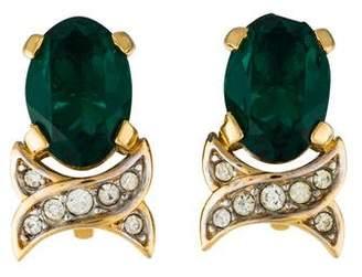 Nina Ricci Crystal Clip-On Earrings
