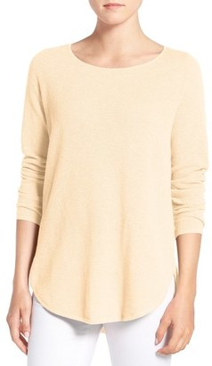 Eileen Fisher Organic Cotton & Cashmere Ballet Neck Pullover $198 thestylecure.com