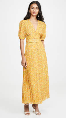 Divine Heritage Short Sleeve Belted Maxi Dress