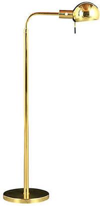 One Kings Lane Vintage Modern-style Brass Floor Lamps - Castle Antiques & Design