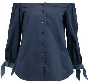 Raoul Off-The-Shoulder Cotton-Blend Poplin Shirt