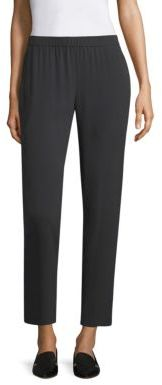 Eileen Fisher Silk Georgette Slouchy Ankle Pants $258 thestylecure.com