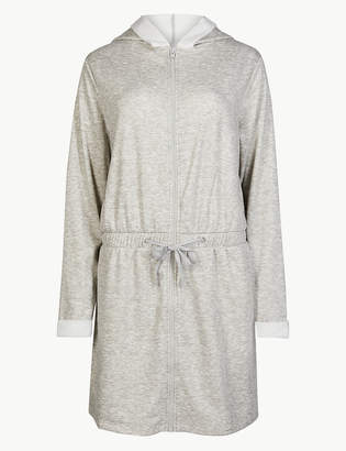 M S CollectionMarks and Spencer Fleece Zip Through Dressing Gown 1e341229f