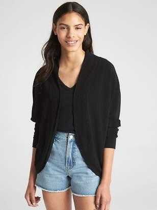 Gap Ribbed Softspun Circle Cardigan Sweater
