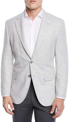 BOSS Men's Jestor Wool-Cotton Jacket with Elbow Patches