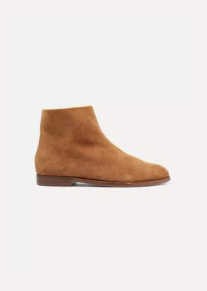 Mansur Gavriel Shearling-lined Suede Ankle Boots - Camel
