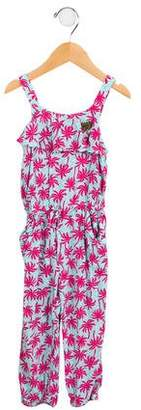 Juicy Couture Girls' Palm Tree Printed Romper