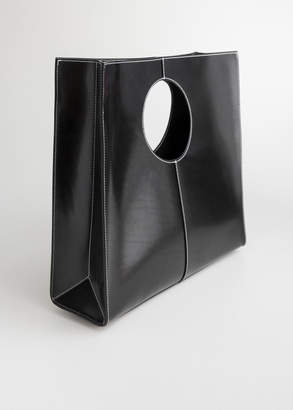 And other stories Structured Leather Square Tote