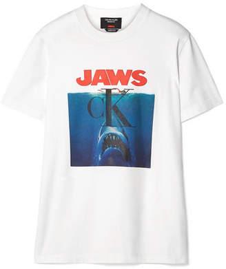Calvin Klein Printed Cotton-jersey T-shirt - White