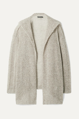 James Perse Wool And Cashmere-blend Cardigan - Light gray