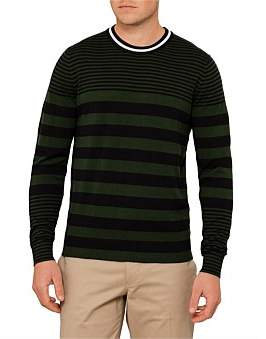 Paul Smith Cotton Striped Crew Neck Knit