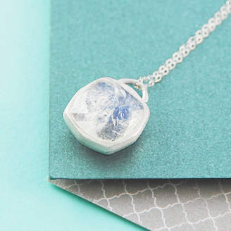 Embers Gemstone Jewellery Moonstone/Spinel Birthstone Doublesided Silver Necklace